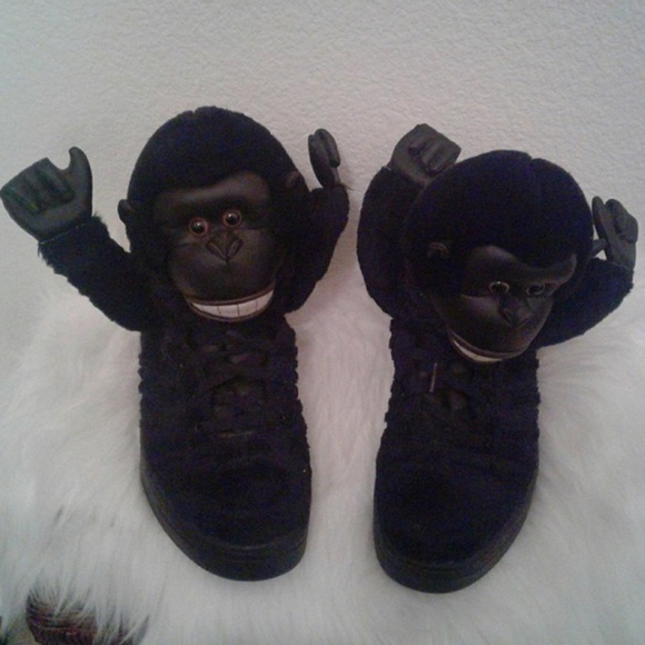 5196ac964ed9ee adidas Other - Unique Rare Adidas Jeremy Scott Gorilla Sneakers